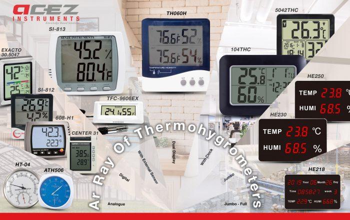Ar Ray Thermohygrometer